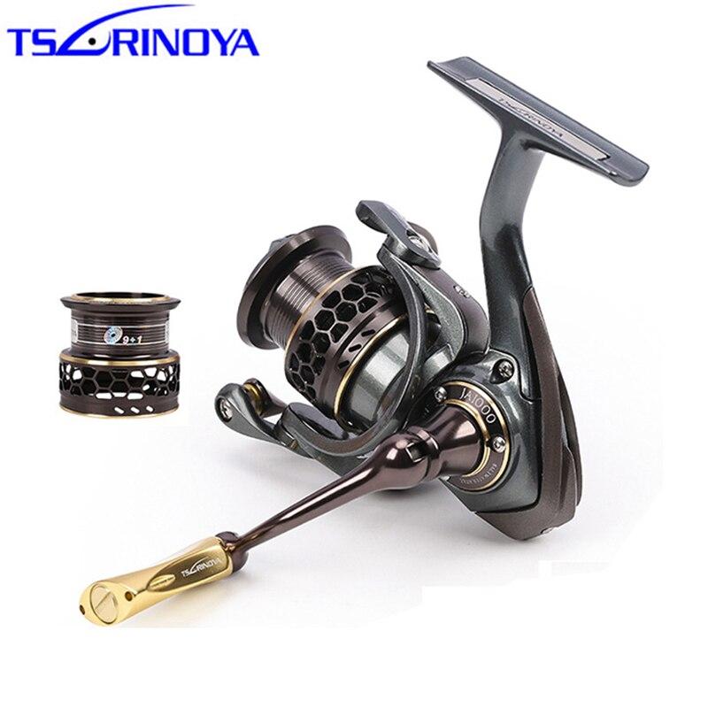 TSURINOYA Jaguar 1000 5000 9+1BB Fishing Reel 2 Spools Carp Fishing 5.2:1 Squid Saltwater Metal Handle Reels Coil Spinning Reel|Fishing Reels|   - AliExpress