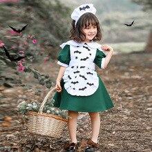 Umorden Kids Child Pumpkin Bat Vampire Maid Costume Cosplay Purim Halloween Costumes