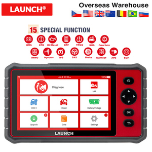LAUNCH X431 CRP909E Full system OBD2 Car Diagnostic Scanner + Airbag SAS TPMS EPB IMMO 15 Reset Function CRP909 code reader