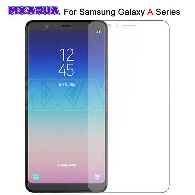 9 שעתי פרימיום מזג זכוכית עבור Samsung Galaxy A3 A5 A7 2015 2016 2017 A6 A8 בתוספת A9 2018 מסך מגן מגן זכוכית סרט