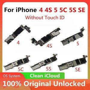 Image 1 - משלוח חינם מקורי עבור iphone 4 4S 5 5C 5S 7P האם מפעל סמארטפון עבור iphone Mainboard עם מלא שבבי משלוח iCloud