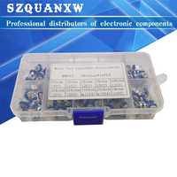 100Pcs/Box RM065 Carbon Film Horizontal Trimpot Potentiometer Assortment Kit 10 Values Variable Resistor 500R - 1M