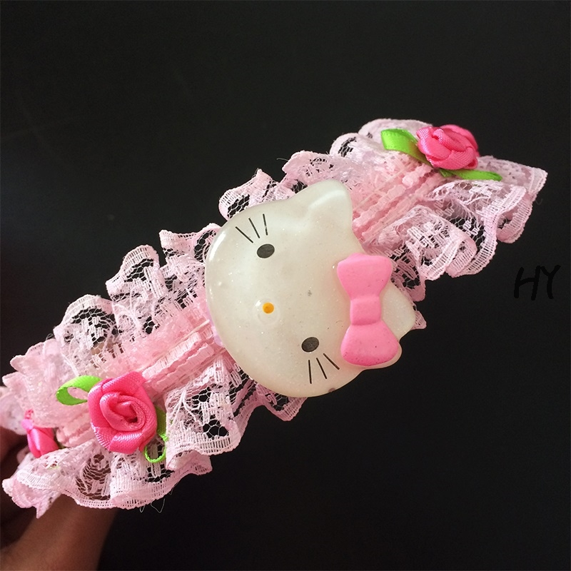 1pcs lot New Lovely Roses Flowers Kitty Lace Headbands Hair Ornament Embellishment in Hair Accessories from Mother Kids