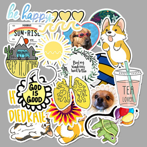 Image 3 - 50 PCS Vsco Stickers Pack For Kawaii Girl Things On Laptop Fridge Phone Skateboard Suitcase Waterproof Sticker