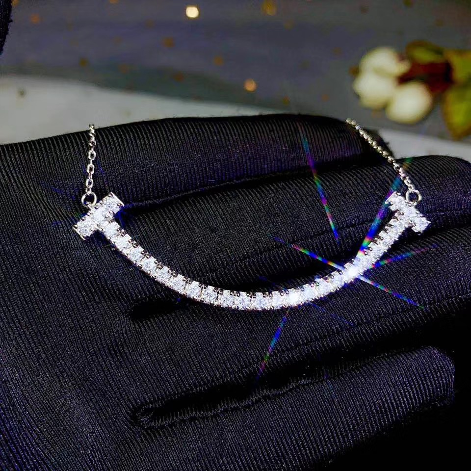 Real  Moissanite   New Promotion Of 925 Sterling Silver Women's Diamond Necklace