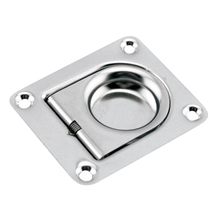 Boat Hatch Handle, Stainless Steel Square Pull Ring Latch Locker Marine Yacht Cabinet Lift Handle