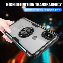 Luxury Magnetic Ring Holder Stand Case For iPhone 7 8 Plus X XS MAX XR Back Cover With Finger Car Ring Case For iPhone 6 6S Plus цена и фото