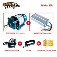 60V3000W Carga Triciclo Brushless Engrenagem Do Motor BLDC hub motor Elétrica Do Motor DCr e moto motocicleta modificar kit DIY