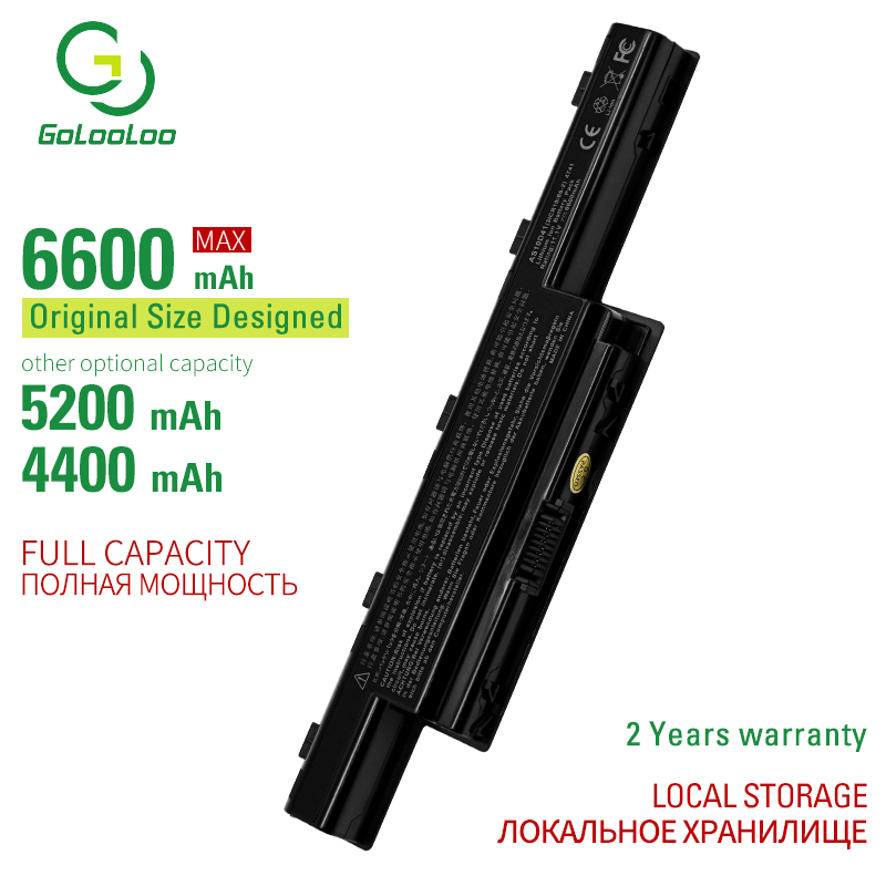 Golooloo 11.1V 6cells Laptop Battery For Acer Aspire 5552 5552G 5560G 5733 5733Z 5736 5736G 5736Z 5736ZG 5741ZG 5742 5742G 5742Z