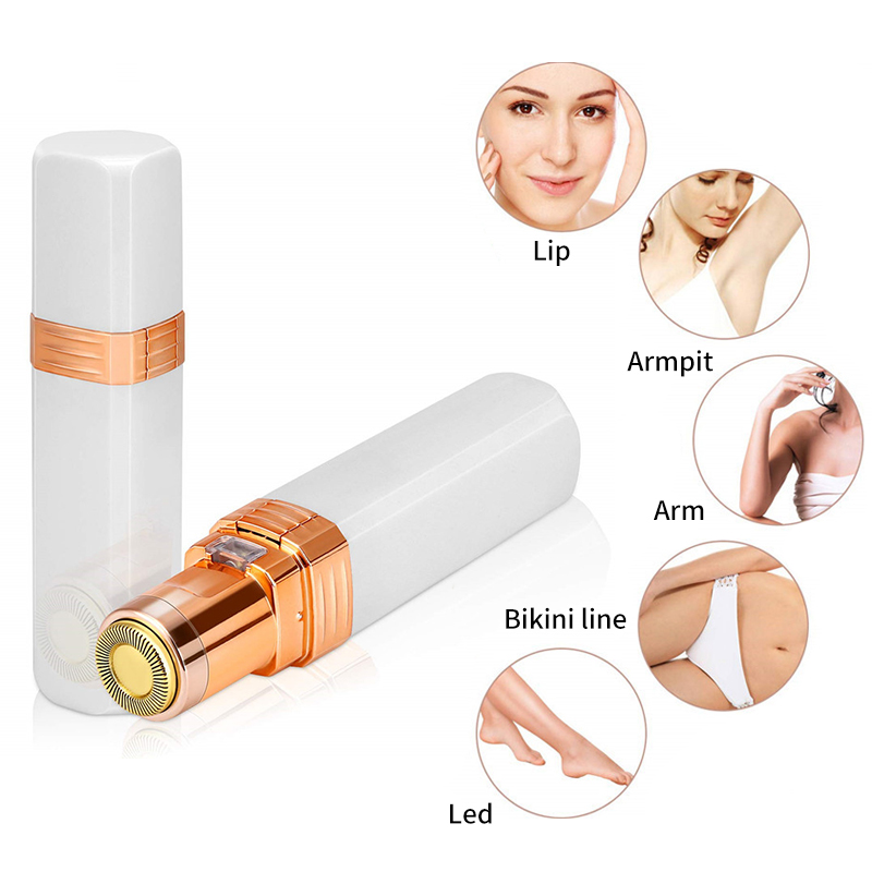 Electric Hair Shaving Device Perfect Hair Removal Lipstick Shape Female Facial Epilator Painless Safety Female Body Facial Tools
