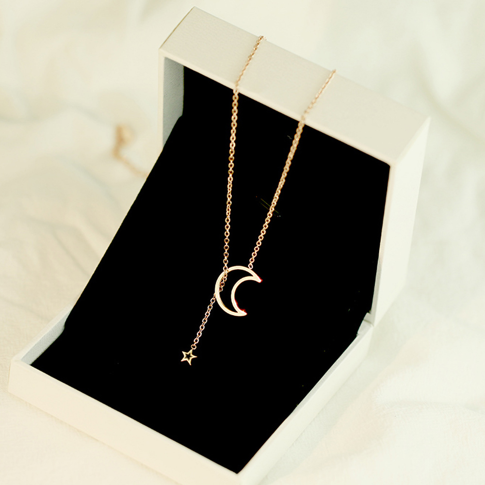 BLINLA Gold Color Star Moon Party Women's Pendant Necklace Fashion Female Choker Necklaces Jewelry Simple Ladies Jewelry Gifts