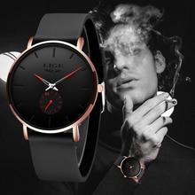 2020 LIGE Top Luxury Brand Fashion New Mens Watches Waterproof Sport Clock Male