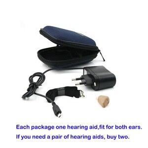 Image 4 - Mini prothèses auditives invisibles rechargeables et pratiques, transparent, pour personnes âgées, contre la surdité