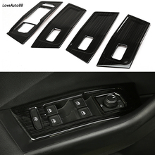 Car Accessories Car Door Window Glass Lift Switch Button Inside Door Handle Frame Trim Cover For Volkswagen VW T-ROC 2017 2018 недорого