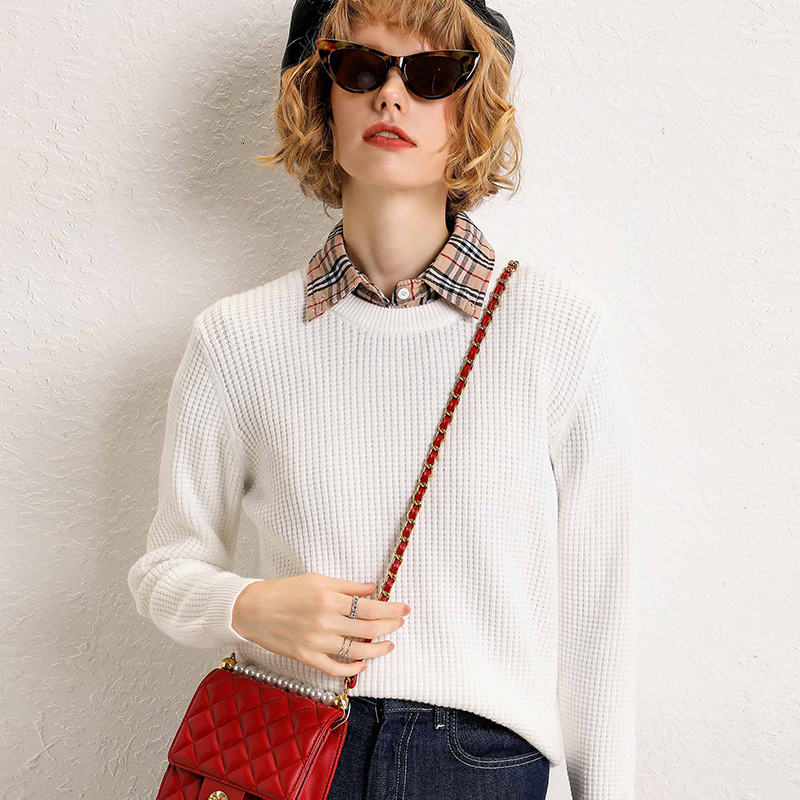 Woman Sweater, Low Collar, Loose, Long Sleeve, Thick, Wild, New Autumn And Winter Sweater, 2019