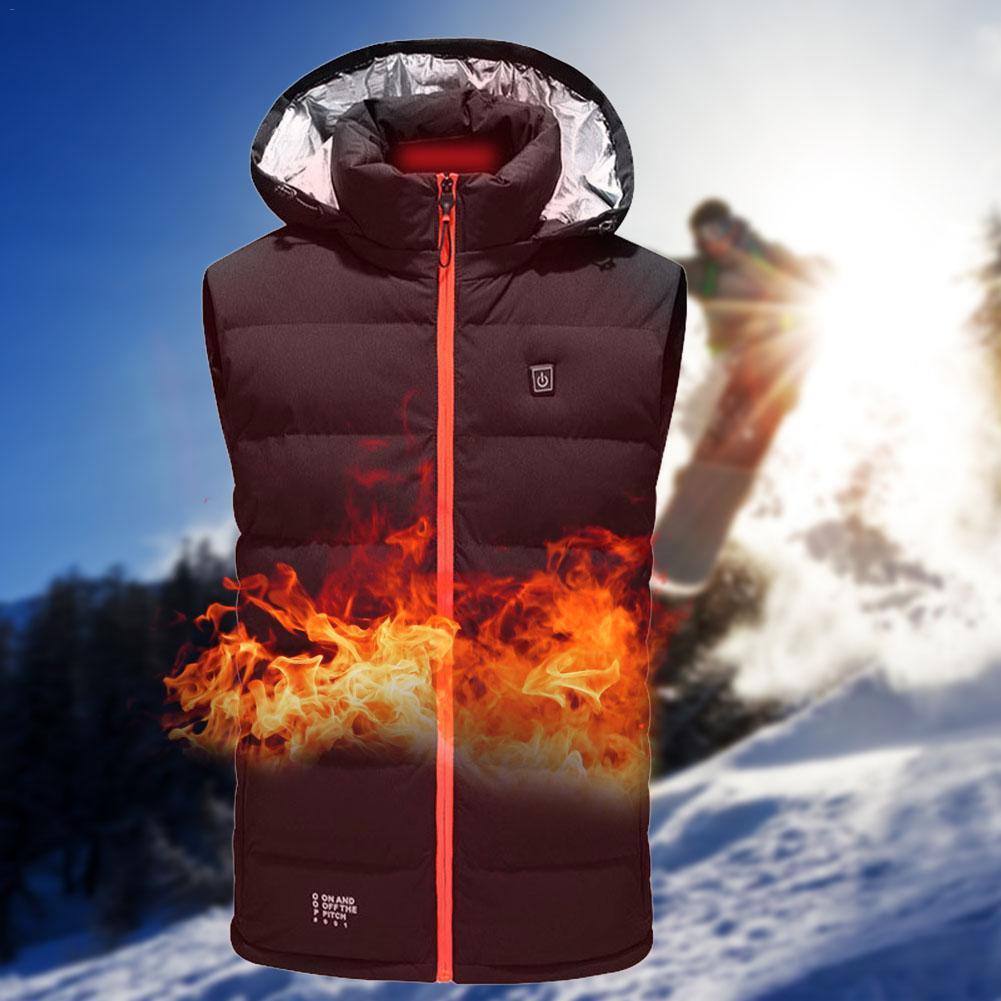 Smart Heating Vest USB Charging Three-speed Temperature Control  Warm Clothes Electric Vest