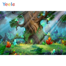 Yeele Fairy Tale Forest Wonderland Backdrop Newborn Baby Shower Children Birthday Party Photography Background For Photo studio free shipping fairy tale digital kids studio photography background backdrop 5x10ft baby children fabric backdrop a 1187