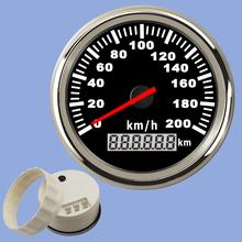 DWCX Universal Car 120km/h Waterproof Digital Pointer Speed Odometer Speedometer Gauge Meter 85mm цена