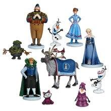 10 sztuk/zestaw Frozen2 królowa śniegu Elsa Anna pcv figurki Olaf Kristoff Sven Anime lalki figurki dzieci zabawki dla dzieci prezenty