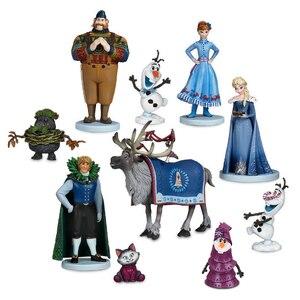 Image 1 - 10Pcs/set Frozen2 Snow Queen Elsa Anna  PVC Action Figures Olaf Kristoff Sven Anime Dolls Figurines Kids Toys For Children Gifts