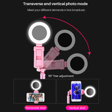 Three In One  6 7 inch 170 cm Bluetooth selfie stick tripod with ring light self portrait beauty fill for iPhone
