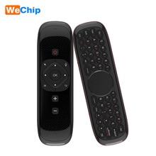 Wechip Air Mouse clavier sans fil W2 2.4G avec Touchpad souris télécommande infrarouge pour Android TV BOX PC projecteur