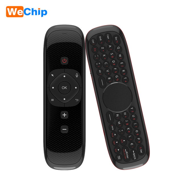 Wechip エアマウスワイヤレスキーボード W2 2.4 タッチパッドマウス赤外線リモコンで PC のためのプロジェクター