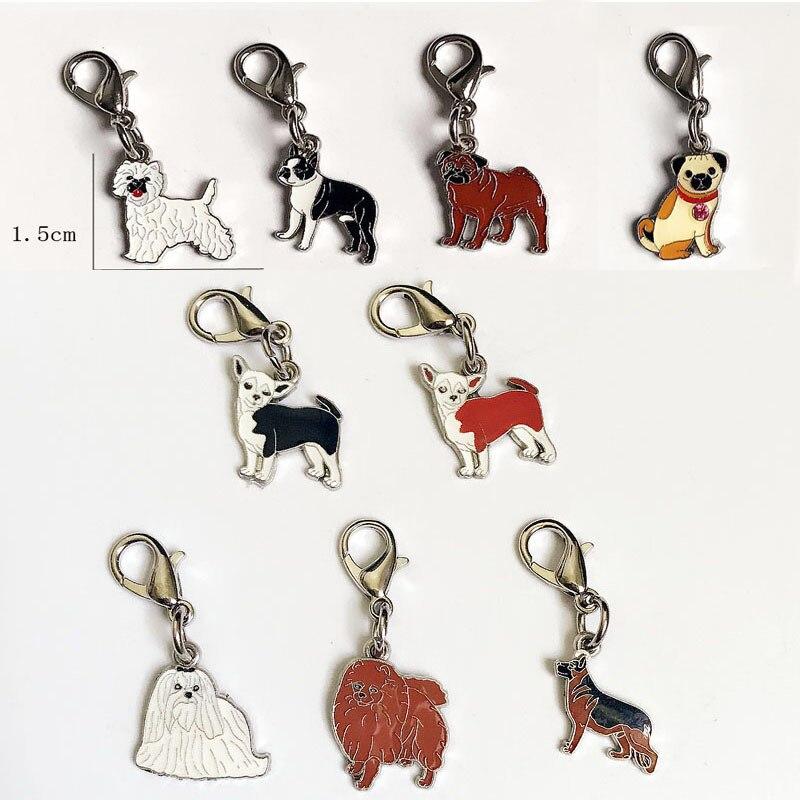 9-Mini Pet Dog Keychain Terrier Keychain Wolf Dog Keychain Maltese Key Chain