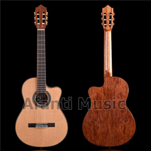 Afanti музыка 39 дюймов Ель Топ/палисандр сзади и по бокам Классическая гитара(ACL-1565-XS