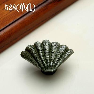 1 шт. морская серия полимерные ручки тянет ручка ящика шкафа и ручка для домашнего оборудования дверные ручки для мебели морская Морская звезда - Цвет: 528 Small shell