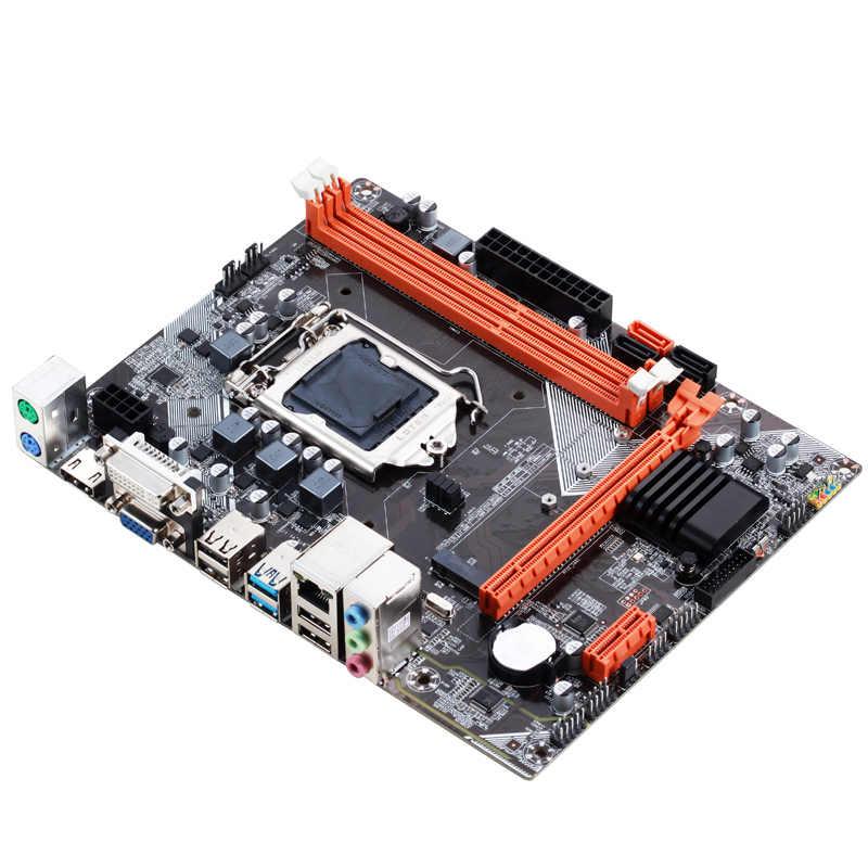 Atermiter B75 anakart Intel LGA 1155 i3 i5 i7 E3 DDR3 1333/1600MHz 16GB SATA3.0 USB3.0 PCI-E VGA HDMI oyun