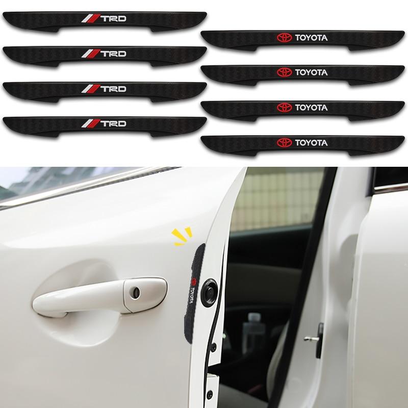 4 шт. защитная полоса на края автомобильной двери, наклейки на полоску для Toyota TRD VIOS Avensis Auris Hilux Corolla Camry RAV4, аксессуары