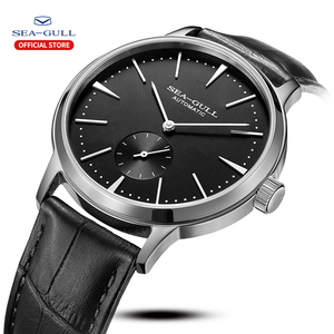 Image 2 - Seagull Business Watches Mens Mechanical Wristwatches 50m Waterproof Leather Valentine Male Watches 519.12.6075