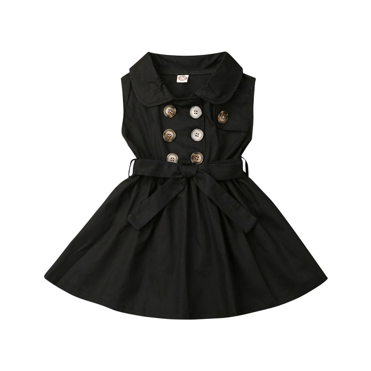 От 1 до 6 лет, модное платье для маленьких девочек новое праздничное платье принцессы без рукавов с пуговицами и бантом на свадьбу - Цвет: Blank