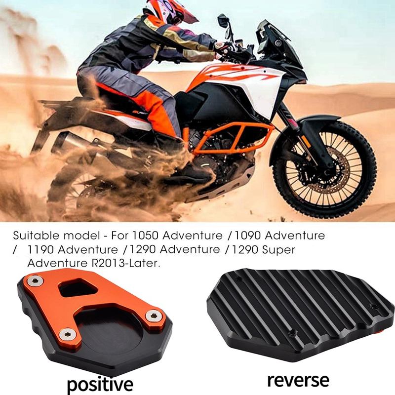 Kickstand Kick Side Stand Extension Plate Replace For KTM 1050 1090 1190 1290 Adventure 2013-2019