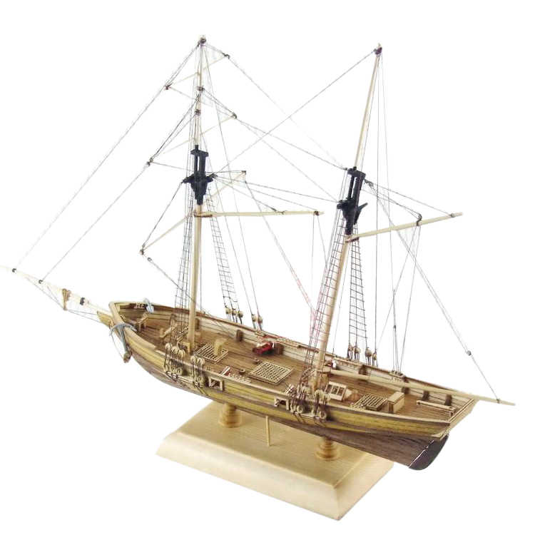 Americas Cup Yacht Wooden Model Kit 16 Sailboat for Home Office Decoration