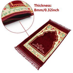 Image 5 - 80 × 120 センチメートルカシミアのようなイスラム教徒イスラム教徒の祈りカーペットポータブル敷物イスラムアラブラマダン祈りマット