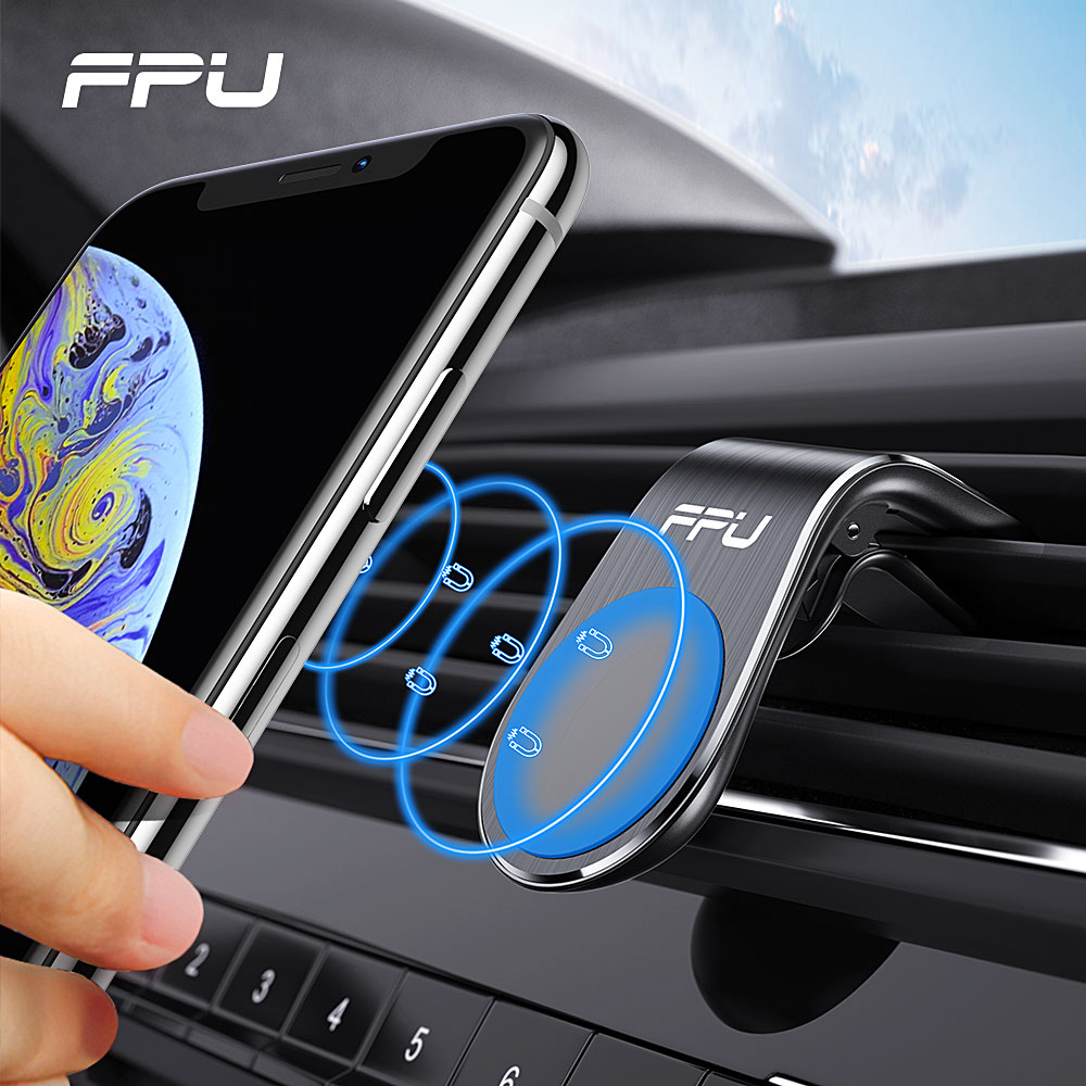 FPU Car Phone Holder For Phone In Car Mobile Support Magnetic Phone Mount Stand For Tablets And Smartphones Suporte Telefone title=