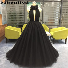 Mbcullyd Black Ball Gown Quinceanera Vestido 2019 Tule Inchado Doce Vestido Longo Trem Da Varredura vestidos de 15 años 16 Personalizado feito