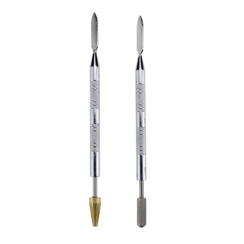 Двухсторонняя ручка для масляной живописи edge DIY, инструменты для обработки кожаных краев, прочный ролик для клея, уплотнительная масляная щетка