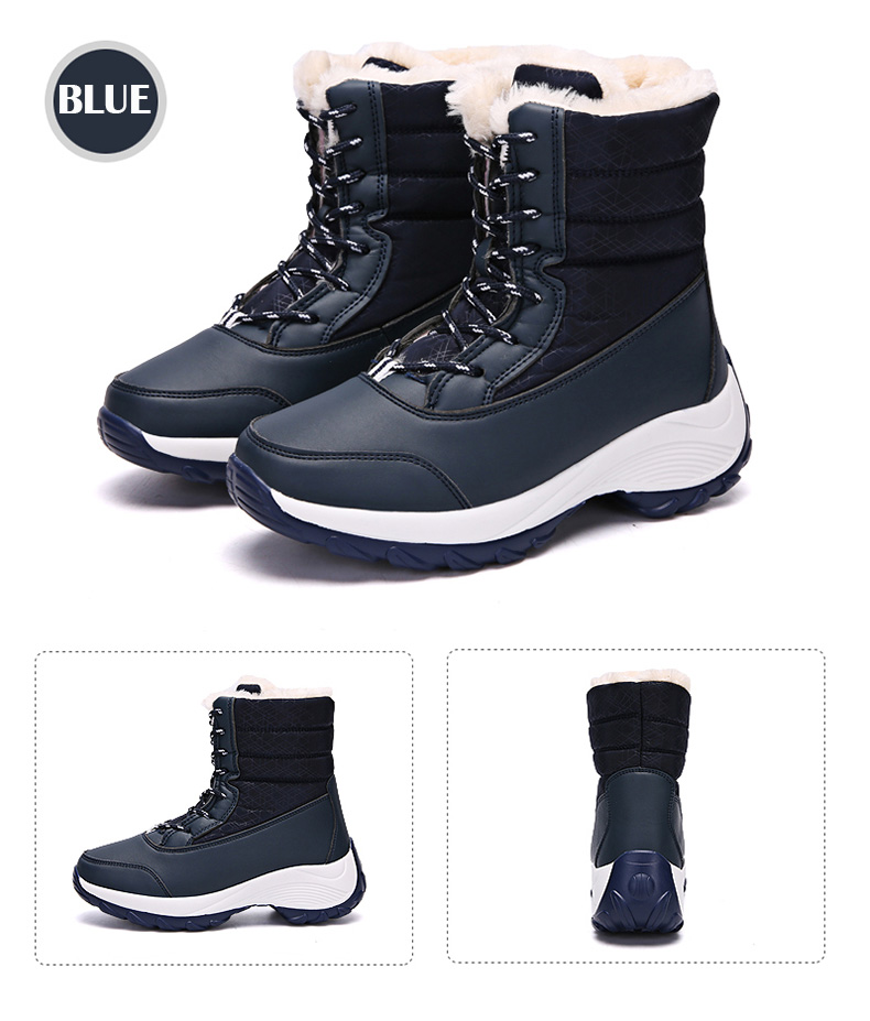 2019 Women Snow boots Waterproof Non-slip Parent-Child Winter Boots Thick Fur Platform Waterproof and Warm Shoes Plus Size 31-42 57