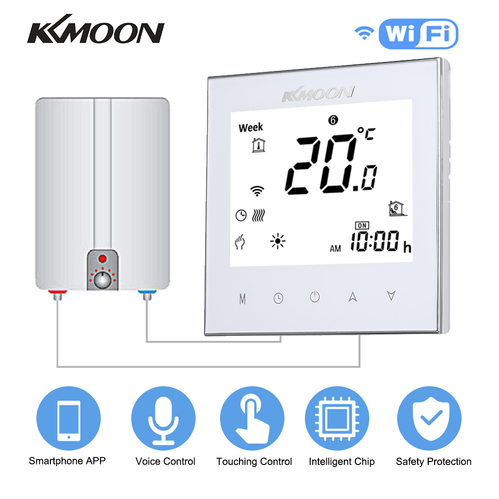 KKmoon Mini Digital Water/Gas Boiler Heating Thermostat With WiFi Connection & Voice Control Room Temperature Controller