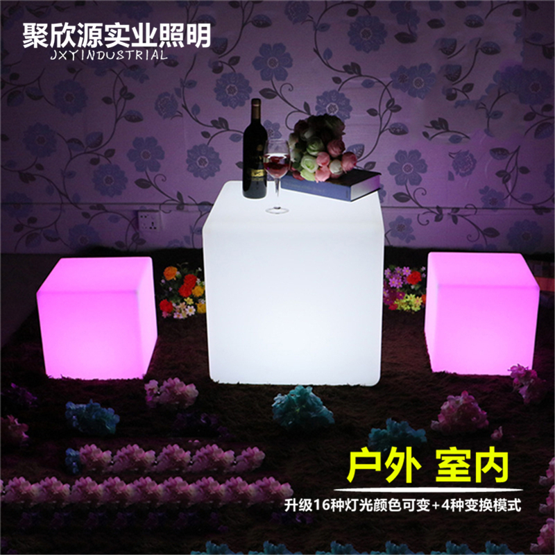 30cm RGB LED Light Cube Seat Chair Waterproof Rechargeable LED Lighting + Remote Control For Bar Home Decor