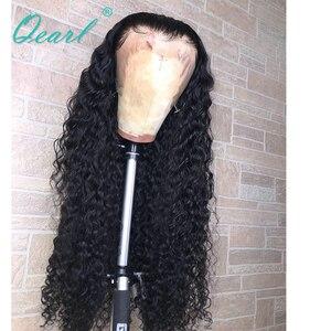 "Image 5 - 250% 400% 밀도 인간의 머리카락 가발 흑인 여성을위한 말레이시아 곱슬 레미 헤어 레이스 프론트 가발 pre plucked 13x4 28 ""30"" 32 ""qearl"