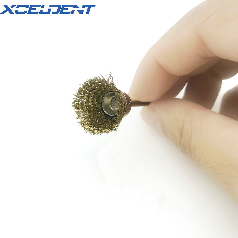 1pcs Copper Wire Brushes Metal Brush Rust Removing Brush Polishing Brush For Dremel Rotary Grinder Tool For Dental Lab