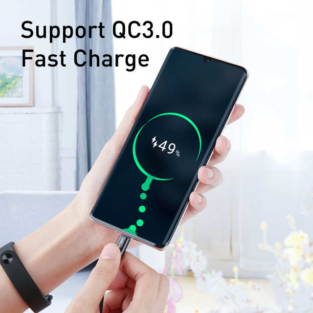 USLION USB C to Type C Cable Fast Charging 60W PD Cable QC 3.0 Quick Charging Mobile Phone Charging Wire USB C Data Cable 3