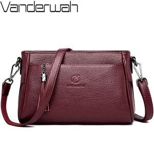 Image 1 - กระเป๋าถือหนังCrossbodyกระเป๋าสำหรับกระเป๋าสตรีสุภาพสตรีกระเป๋าสตรีกระเป๋าถือและกระเป๋าถือคุณภาพสูง