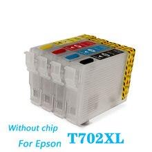 702 t702 t702xl чернильный картридж пополнения чернил для epson