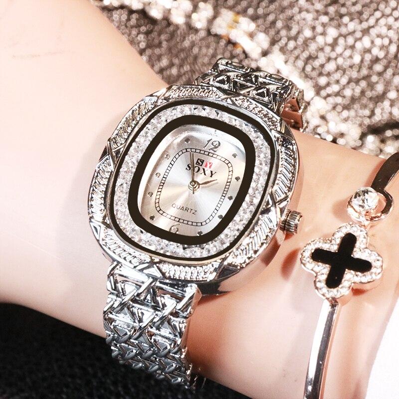 2019 Fashion Casual Women Watch Quartz Wristwatches Luxury Brand Women's Watch Unique Style Bracelet Ladies Watch Zegarek Damski