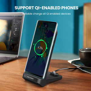 Image 5 - Snelle Qi Draadloze Oplader Voor iPhone XS XR X 8 Samsung S10 S9 QC 3.0 Type c PD Quick charge Multi Usb Telefoon Opladen Dock Station